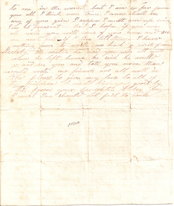 Letter from Abby Seger Gregory