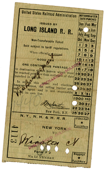 railroad ticket