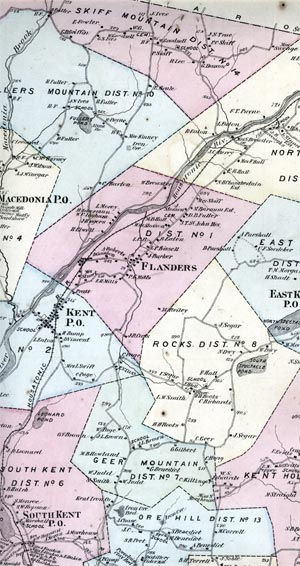 an old map of Kent