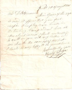 Letter to Hinman